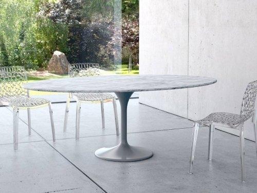 Ceramiche De Matteis Lucera: Tavolo ovale in marmo Tulip della ...